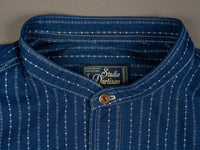 Studio D´Artisan Indigo Wabash Shirt band collar