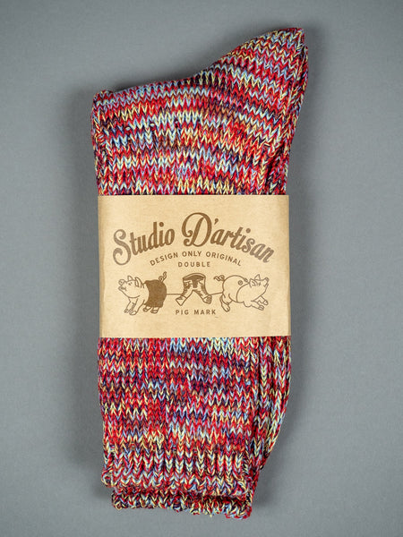 Studio D´Artisan Long Mix Socks Red