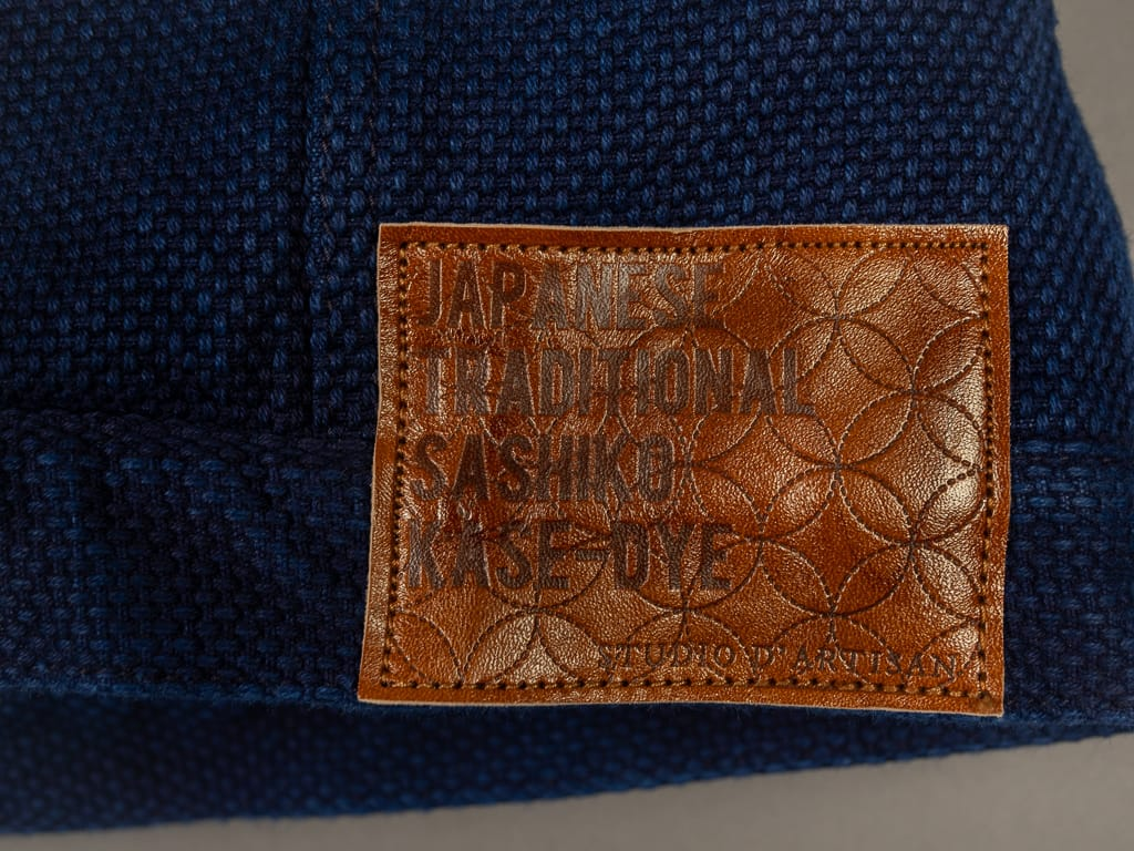 Studio D´Artisan Kase Sashiko Indigo Jacket deerskin leather patch