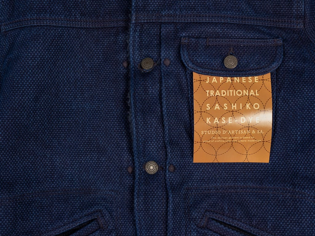 Studio D´Artisan Kase Sashiko Double Indigo Jacket label