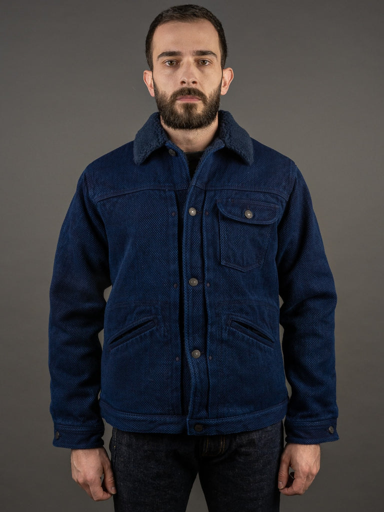 Studio D´Artisan Kasezome Sashiko Double Indigo Lunch Jacket