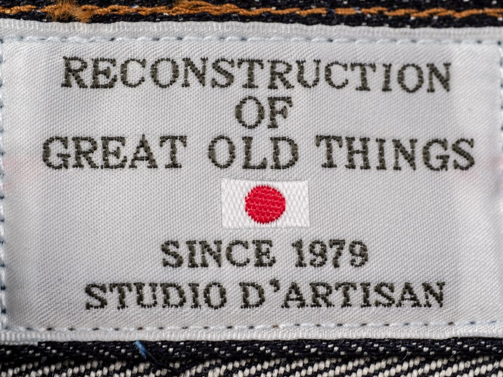 Studio D´Artisan Suvin Gold D1755 selvedge jeans interior tag