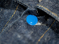 tanuki ejkt3 japanese selvedge denim earth jacket blue button