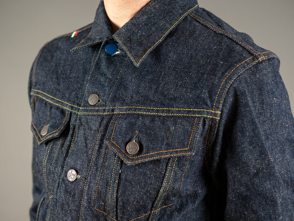 tanuki ejkt3 japanese selvedge earth 18oz jacket pockets