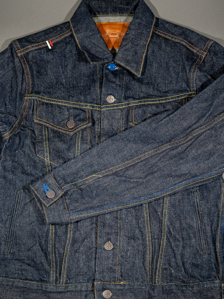 tanuki ejkt3 japanese selvedge denim earth jacket