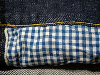 tanuki earth jacket gingham lined pockets
