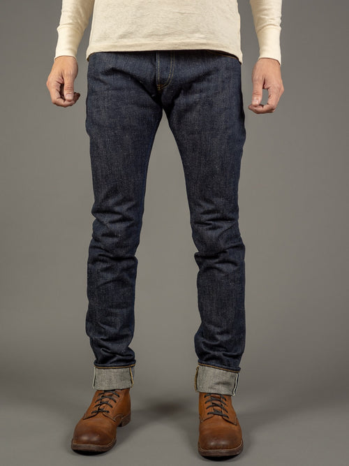 tanuki et earth japanese denim 18oz raw jeans front