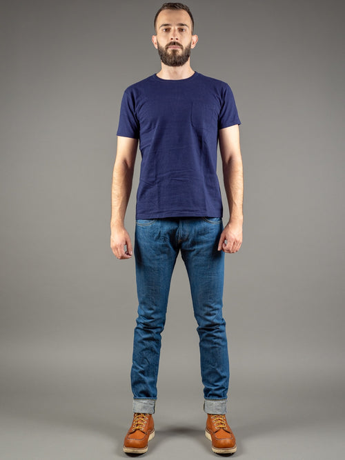 tanuki kt kaze tapered light indigo jeans