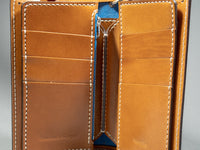 tanuki shell cordovan long bifold wallet card slots