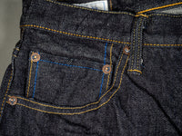 tanuki rht retro high tapered selvedge jeans coin pocket