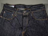 tanuki rht retro high tapered selvedge jeans waist