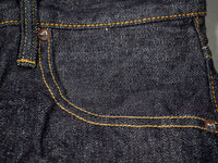 tanuki rht retro high tapered selvedge jeans pocket