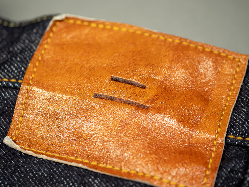 deerskin leather patch of tanuki rht japanese selvedge denim