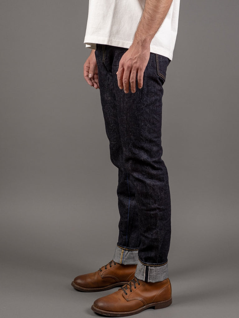 tanuki rht retro high tapered selvedge jeans side