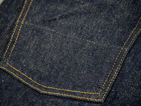 tanuki rt retro tapered selvedge japanese jeans back pocket