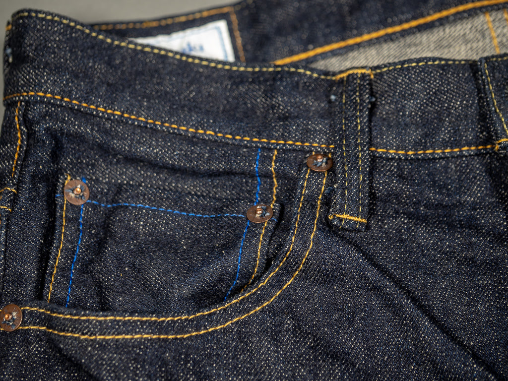 tanuki rt retro tapered selvedge japanese jeans coin pocket