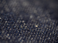 tanuki retro japanese vintage indigo rope dyed denim fabric