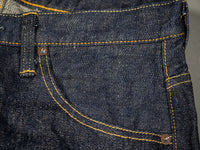 tanuki rt retro tapered selvedge japanese jeans pocket