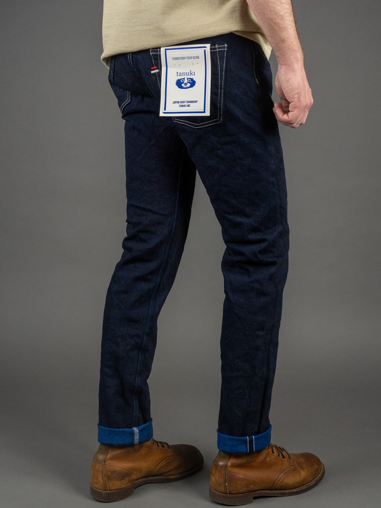 "Tanuki YUHT Natural Indigo ""Yurai"" High Tapered Jeans selvedge"