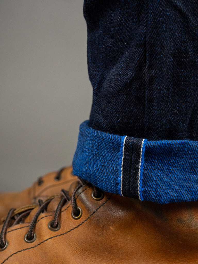 "Tanuki YUHT Natural Indigo ""Yurai"" Jeans colored weft selvedge"