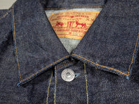 tcb 50 levis inspired type 2 selvedge denim jacket collar