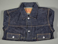 tcb 50 levis inspired type 2 selvedge denim jacket folded