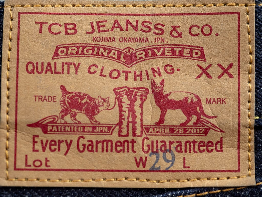 paper patch of TCB 50´s Japanese Jeans