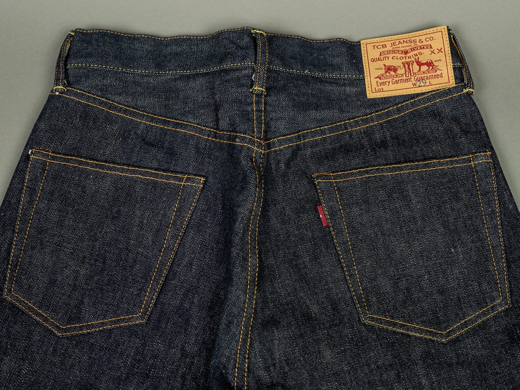 TCB 50´s japanese denim Jeans back pockets