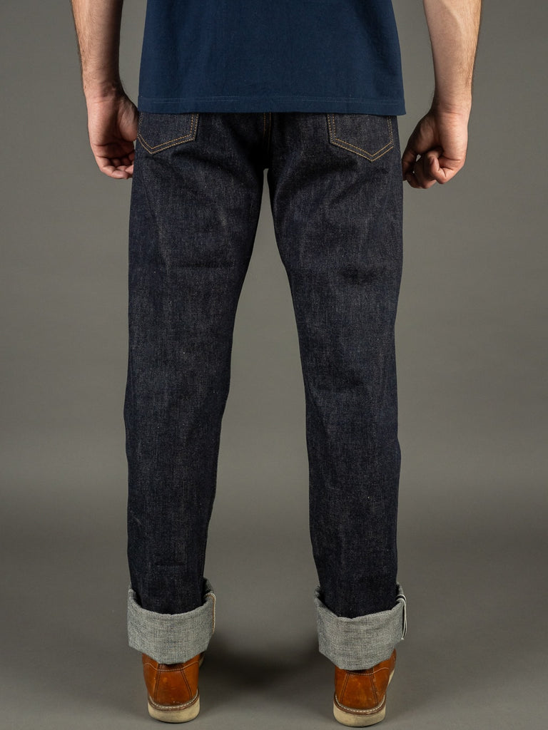 TCB 50´s non wash japanese denim Jeans back