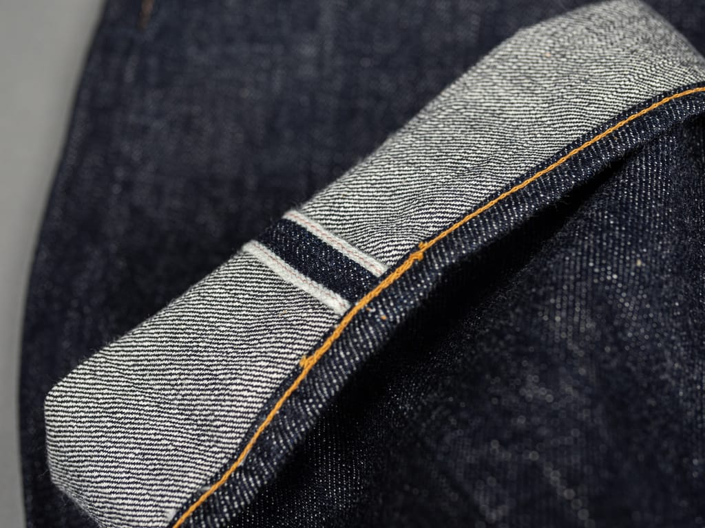 selvedge pink of TCB 50´s japanese denim