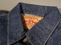 1960 denim jacket collar of tcb 60´s japanese denim jacket