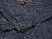 tcb 60´s type 3 trucker selvedge japanese denim jacket cuffs