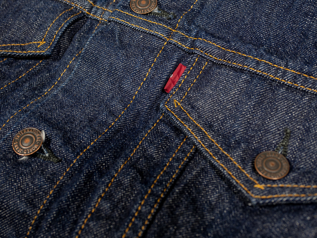 tcb 60´s type 3 trucker selvedge japanese denim jacket pocket