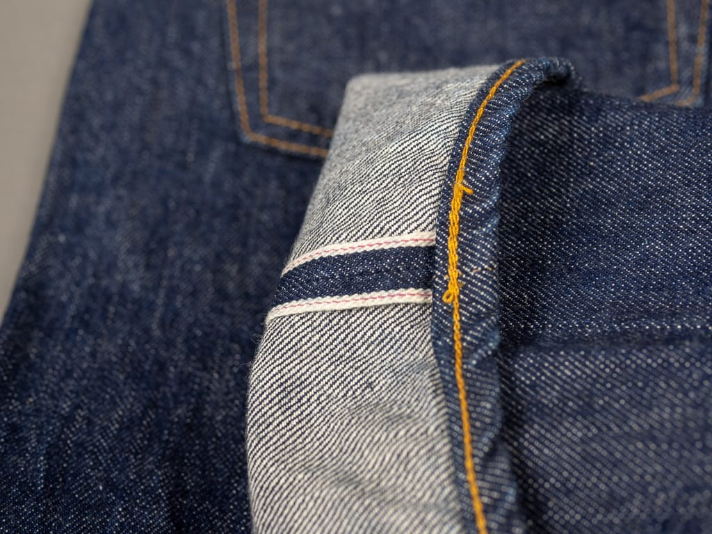 selvedge pink of TCB 60´s japanese denim Jeans