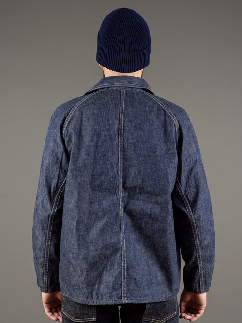 tcb black cat denim vintage workwear jacket back