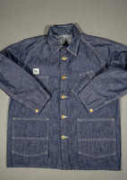 tcb black cat denim vintage workwear lightweight jacket