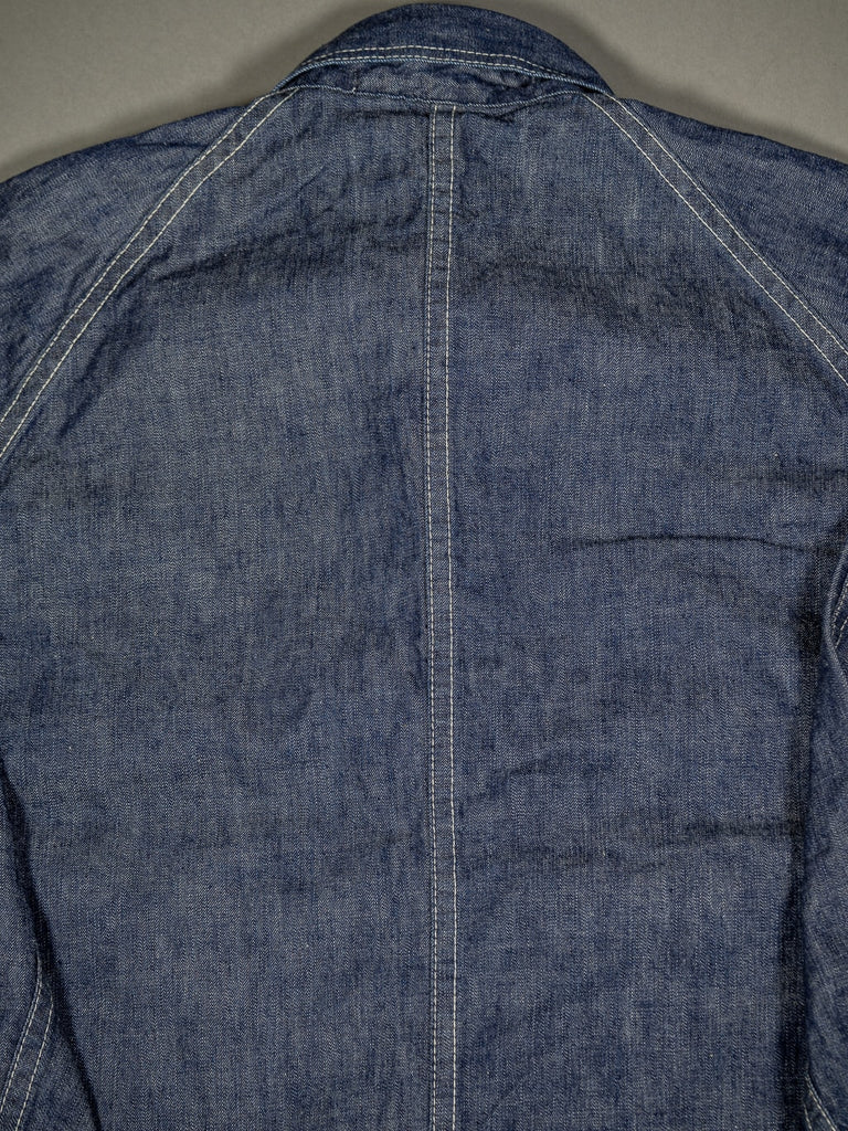 tcb black cat denim vintage workwear lightweight jacket back