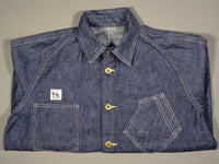tcb black cat denim vintage workwear lightweight jacket folded