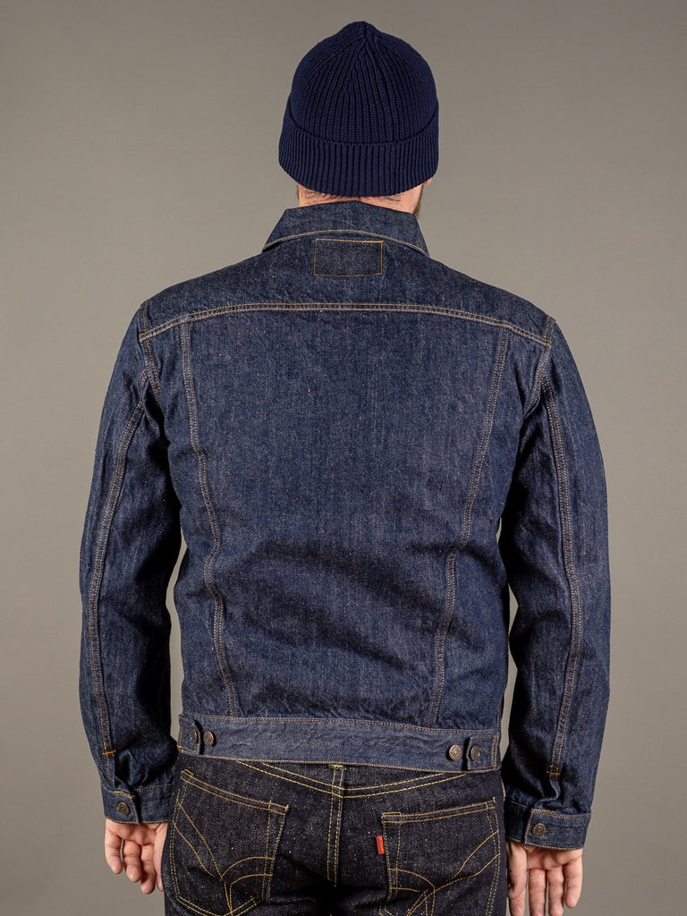 tcb 60 type 3 levis trucker jacket inspired japanese denim back
