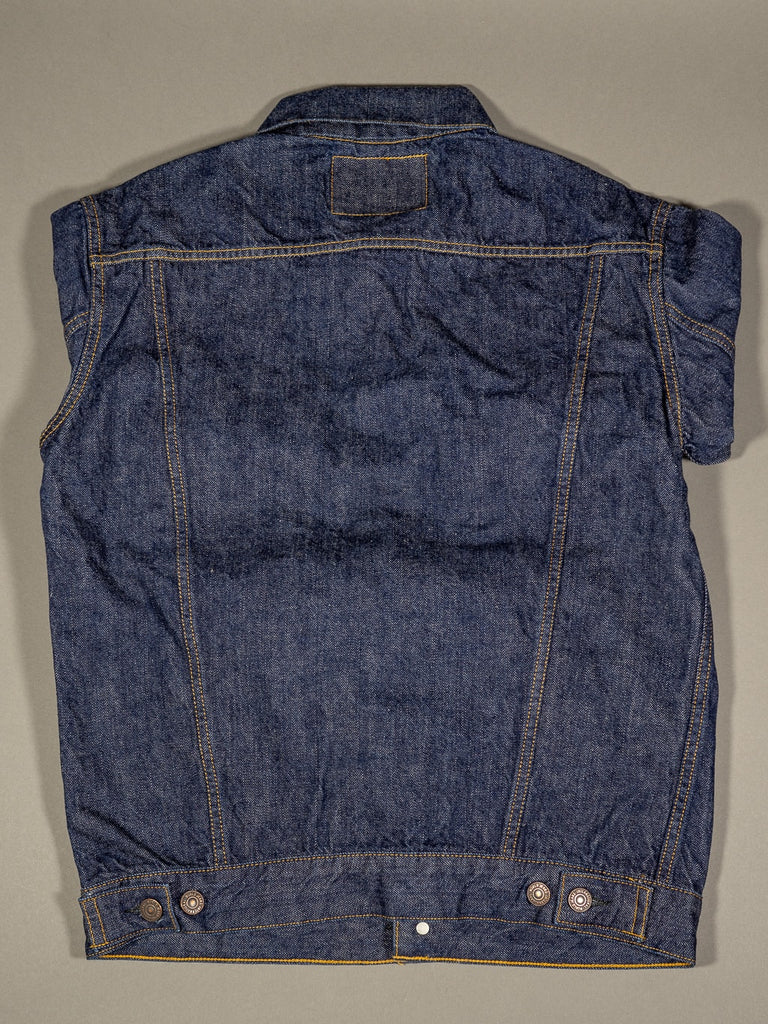 tcb 60´s type 3 trucker selvedge japanese denim jacket back