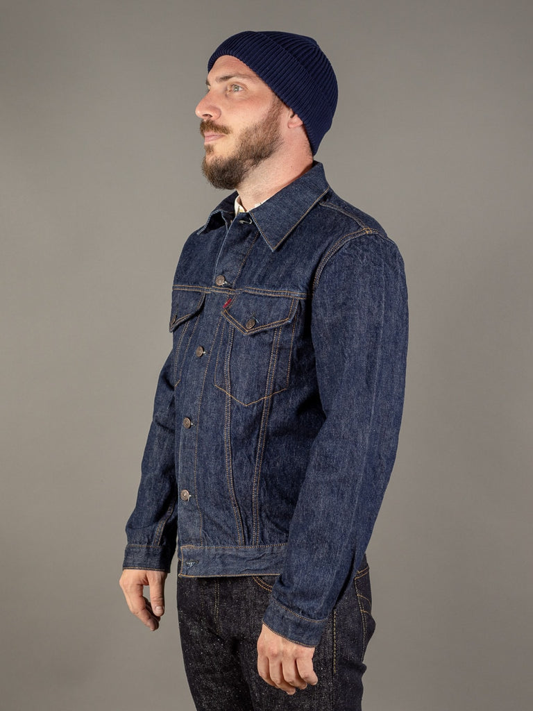 tcb 60 type 3 levis trucker jacket inspired japanese denim side