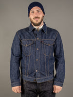 tcb 60 type 3 levis trucker jacket inspired japanese denim front