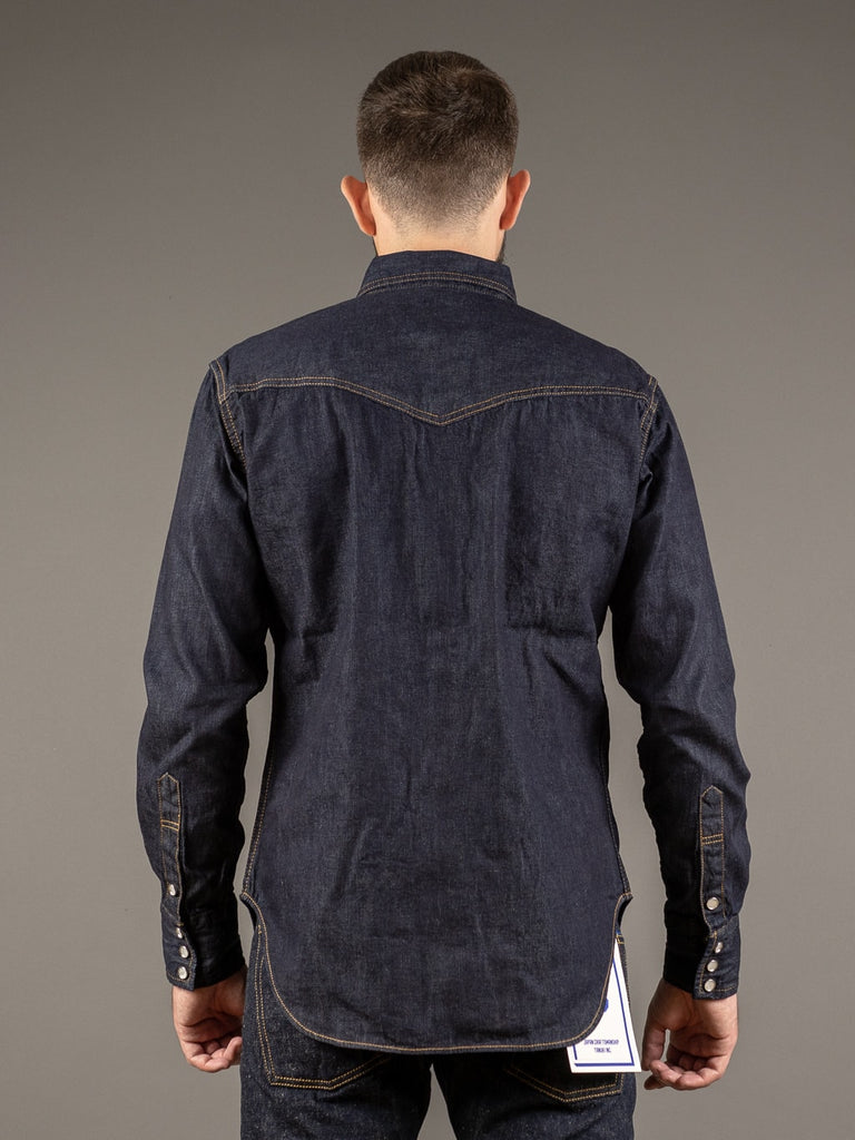 tcb ranchman western japanese denim shirt back