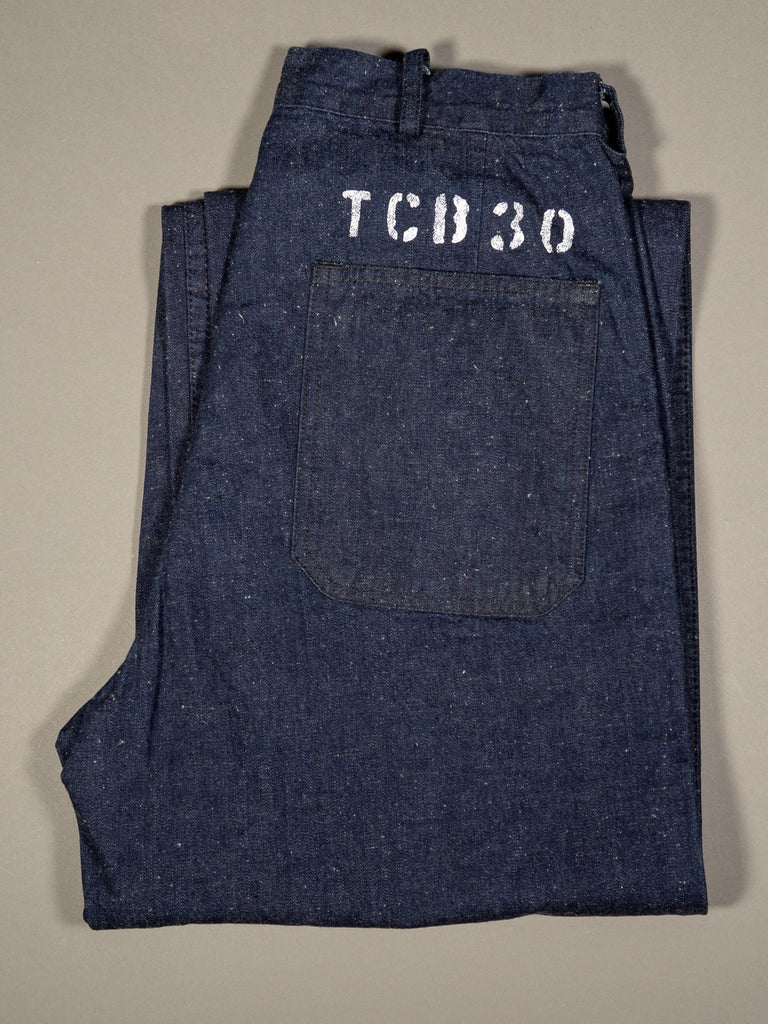 tcb usn seamens vintage navy inspired trousers folded