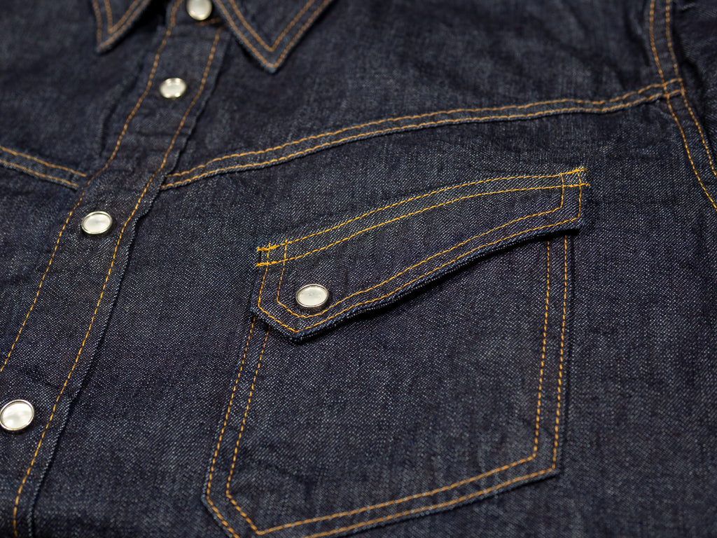 vintage western pocket of tcb ranchman denim shirt