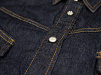 tcb ranchman western japanese denim shirt shellfish buttons