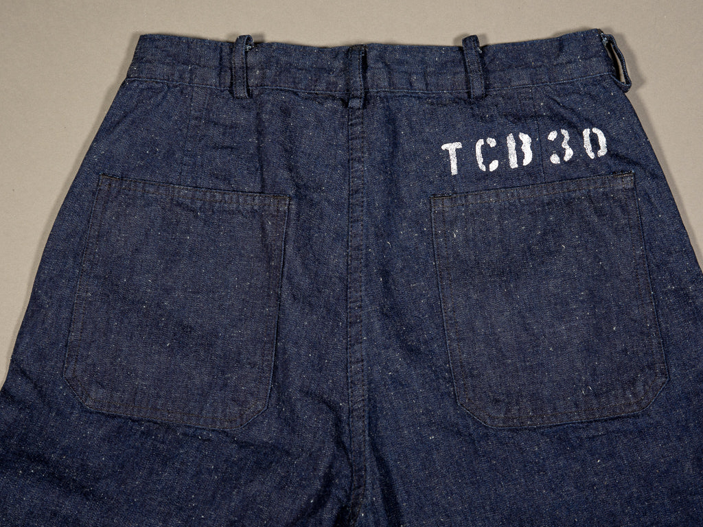 tcb usn seamens vintage navy inspired trousers back pockets