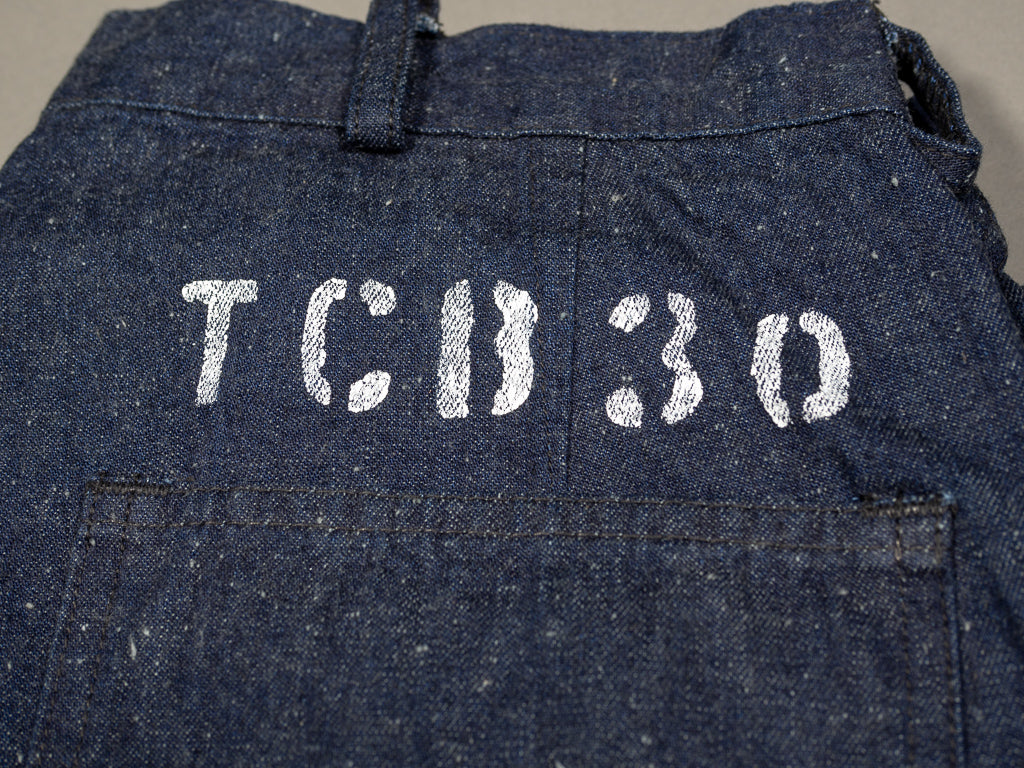 hand stencilled size 30 of tcb seamens trousers