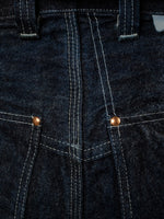 Tender 130 Selvedge Denim Molleton Jeans tiple stitched seams