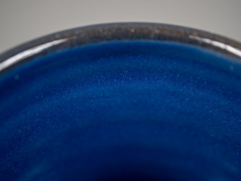Tender Coffee Mug Deep Cobalt blue Glazed edge